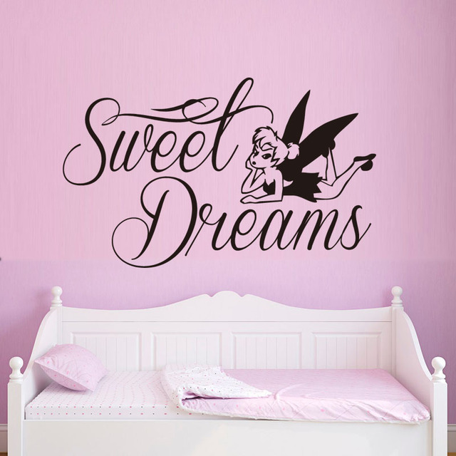 Sweet Dream Wall Sticker Quotes For Bedroom Fairy Wall Decals For Girls  Room Decorations Vinyl Art