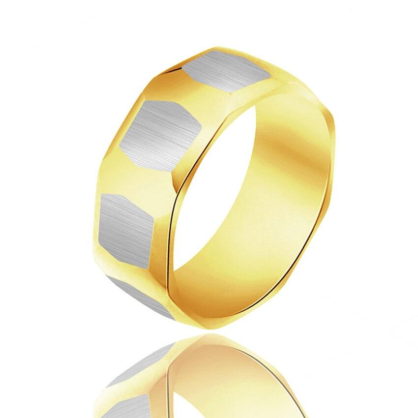 Anillo de moda de acero inoxidable dorado Newpanny hecho de acero inoxidable en gris para hombre y mujer belleza y joyería