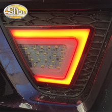 цена на For Honda Jazz Fit 2014 2015 2016 LED Rear Bumper Lamp Rear Fog Lamp Rear Reflector Driving + Turn Signal + Brake + Reversing
