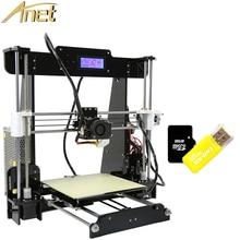 Дешево!!! Anet A8 Большой Размер Печати Точности Reprap Prusa i3 3D Принтер DIY Kit С 10 м Нити Алюминиевый Очаг ЖК-Видео