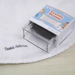 Spersonalizowana nazwa pieczęć dostosuj podpis wodoodporne ubrania dla dzieci Scrapbooking obóz szkoła żelazko na naklejki zestaw papeterii|Zestawy papeterii|   -
