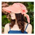 Folding sun hat visor multi-purpose women's sun hat veil sunbonnet