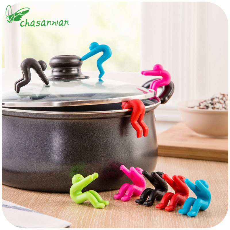 Creative 1Pcs Kitchen Gadgets Raise The Lid Overflow Device Stent For Kitchen Tools Pot Cover Overflow Home Kitchen Accessories