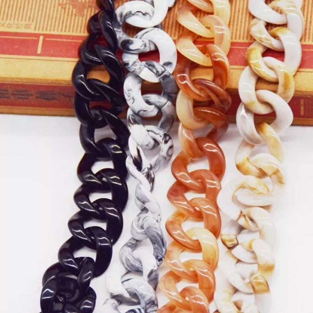 1.0 Meter Acrylic Necklace Strands Parts Linked Bag Chains Women Jewelry DIY Accessories Glasses Chains Components N014