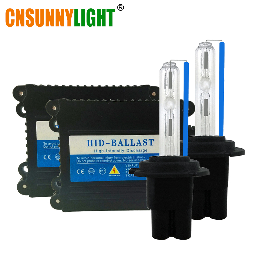 CNSUNNYLIGHT Xenon Hid Conversion Kit 35W H1 H3 H7 H8 H10 H11 H9 9005 9006 HB3 HB4 Lamp w/ Slim Ballast Block for Car Headlight free shipping car hid xenon light ac 35w decode conversion ballast for 9004 9005 9006 all size [ac14]