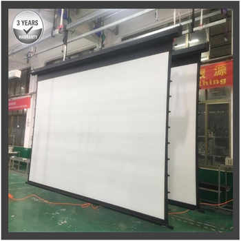 G2HCW, 200'' 16:9 4K Large Tab tensioned Electric Motorized Projection Screen with high qualified vinyl cinema white