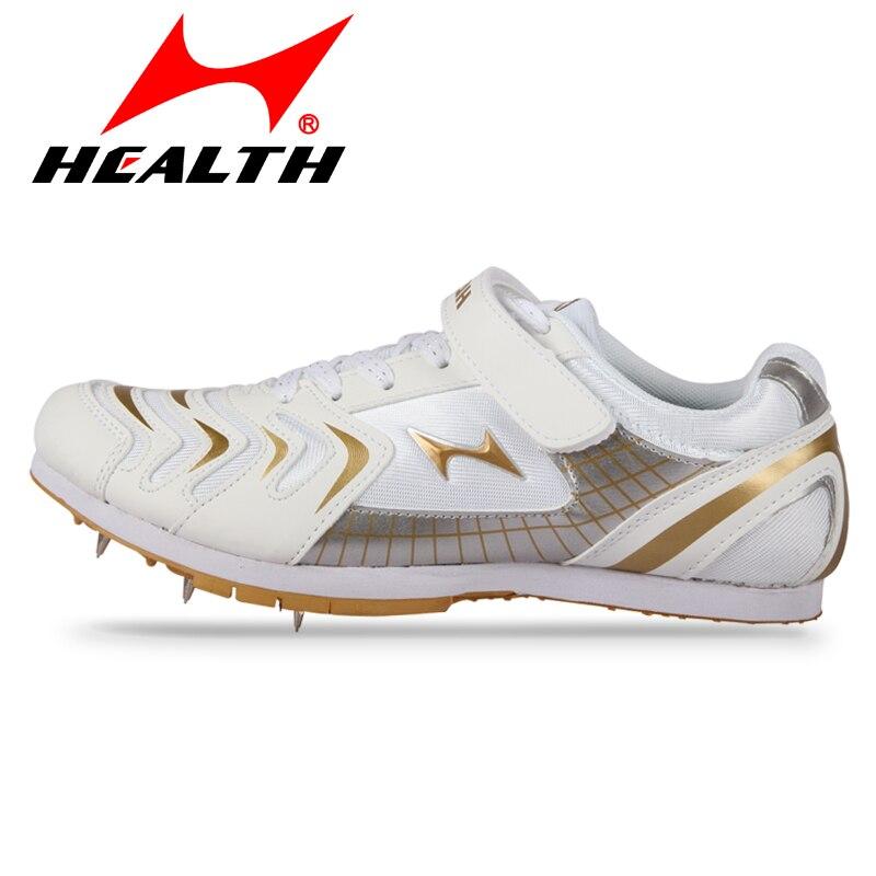 Health 2017 Professional Track Field Spikes Shoes Men Women Long-jump Jumping Shoe Breat ...