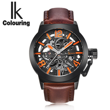 The new IK art RETRO military men automatic mechanical watches watches hollow belt leisure