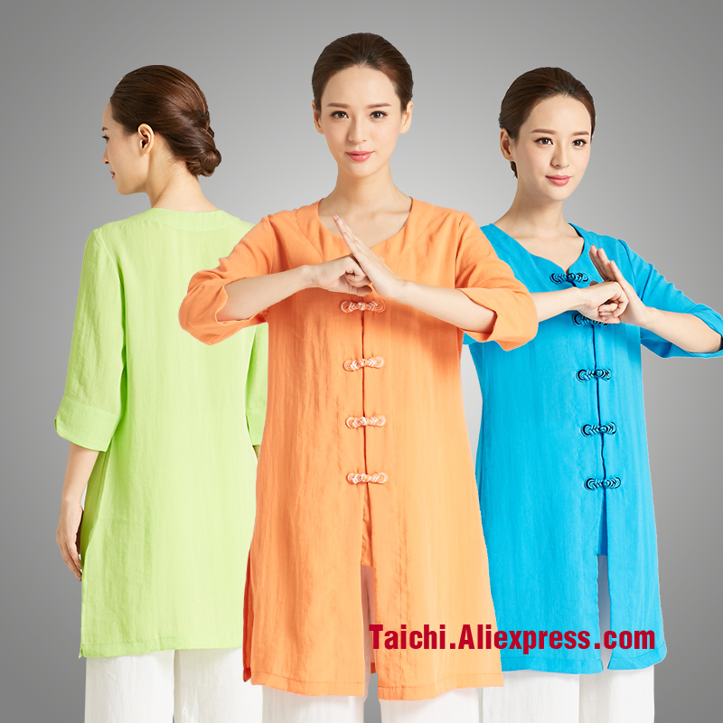 Martial Art Tai Chi Unifrom  Linen Taiji Clothing Women Practicing Uniforms Kunfu Clothes Include Top And Pants