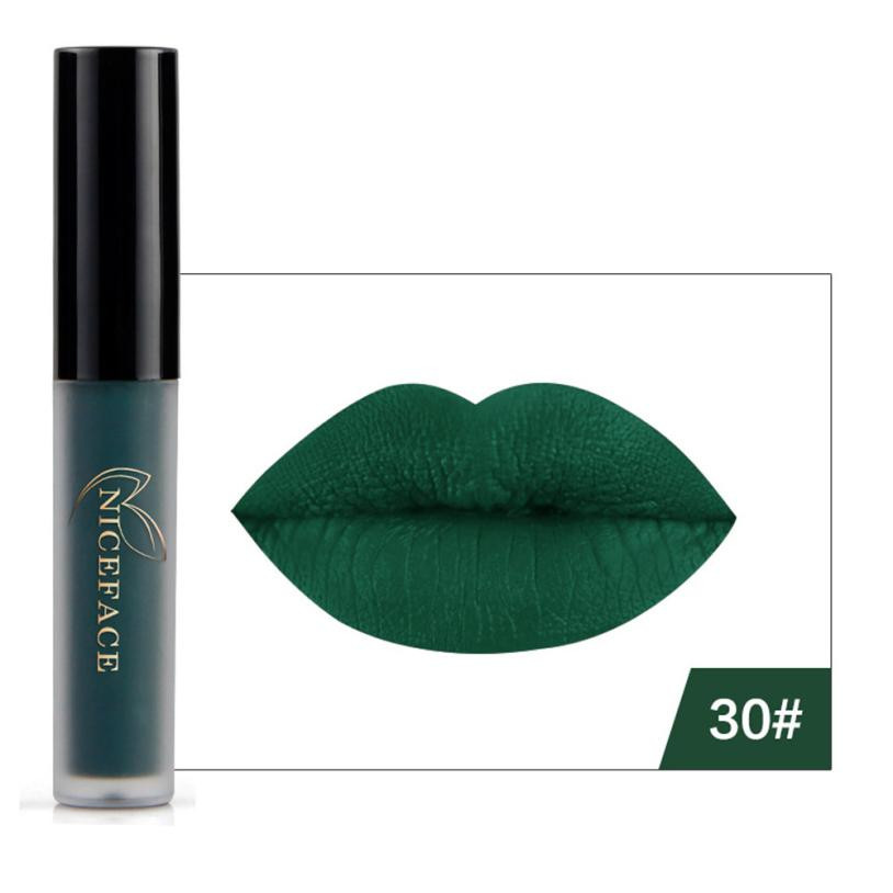 Matte Waterproof Cosmetic Lipstick White Lipstick Crazy Kiss of ...