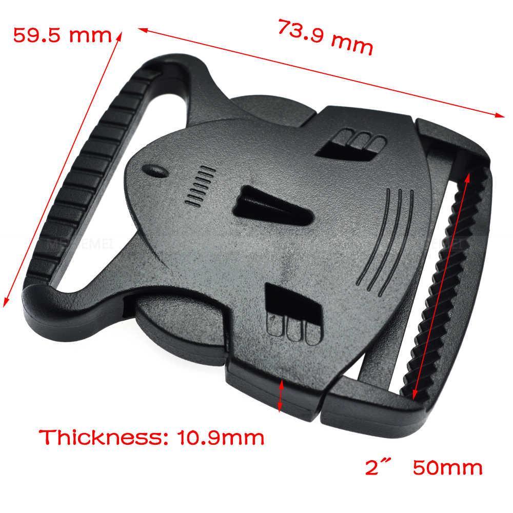 Hebillas de Liberación lateral de plástico doble cintura delgada ajustable Molle para mochila táctica correas de perro correas de 20mm 25mm 32mm 38mm 50mm