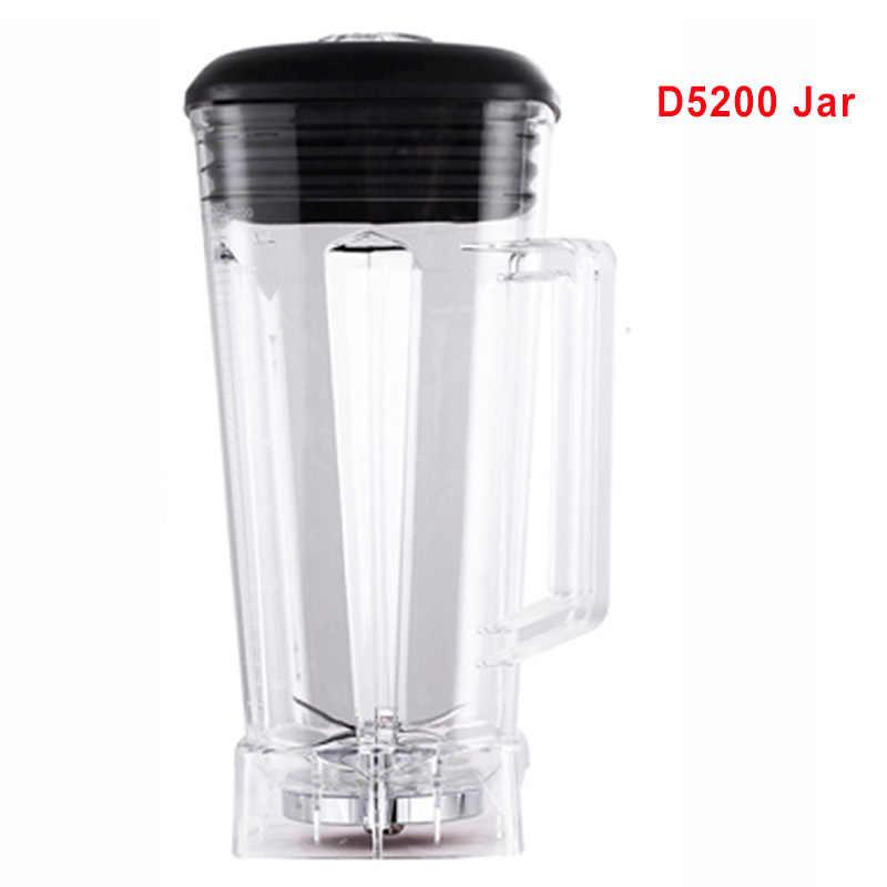 Misturador Liquidificador peças de reposição D5200 2L Quadrado Recipiente Jarra Jarro Jarro De Copo inferior com smoothies serrilhada lâminas tampa BPA LIVRE