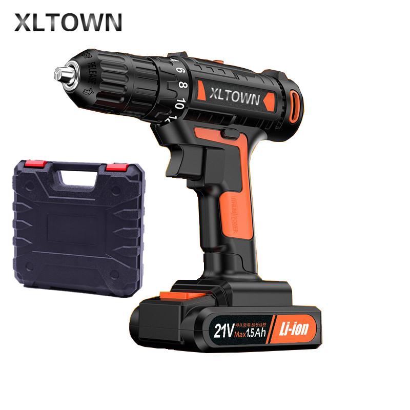 XLTOWN 21v Cordless Electric Drill Household Multifunction Electric Screwdriver 60 Nm Dramatic Household Electric Drill серебряное кольцо ювелирное изделие 1135s