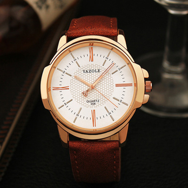 YAZOLE Top Brand Luxury Men's Watches Fashion Leather Men's Watch Men Watch Clock erkek kol saati relogio masculino reloj hombre