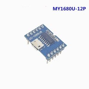 2/шт в партии MY1680U-12P имитация u-диска USB загрузка флэш-последовательный порт голосовой модуль Звук Музыкальный плеер чип