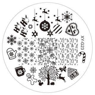 Рождество 1 ШТ. Мода DIY Для Ногтей Красоты Nail Art Image Stamp Штамповка Плиты 3D Nail Art Шаблоны Трафаретов Маникюр Инструменты