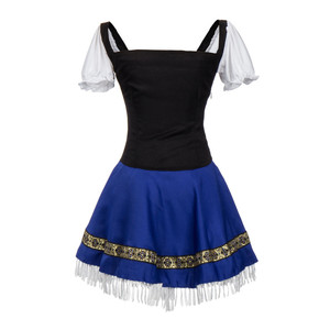 Image 5 - Sexy Blue Bavarian Oktoberfest Ladies Wench Waitress Serving Maid Costume S 3XL Beer Girl Fancy Dress