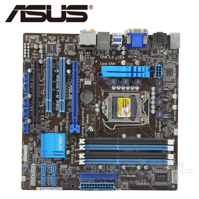 Free shipping original motherboard for ASUS P8H67-M PRO LGA 1155 DDR3 16GB USB2.0 USB3.0 H67 Desktop motherboard asus original motherboard h67h2 ad lga 1155 ddr3 h67 motherboard micro atx desktop motherboard