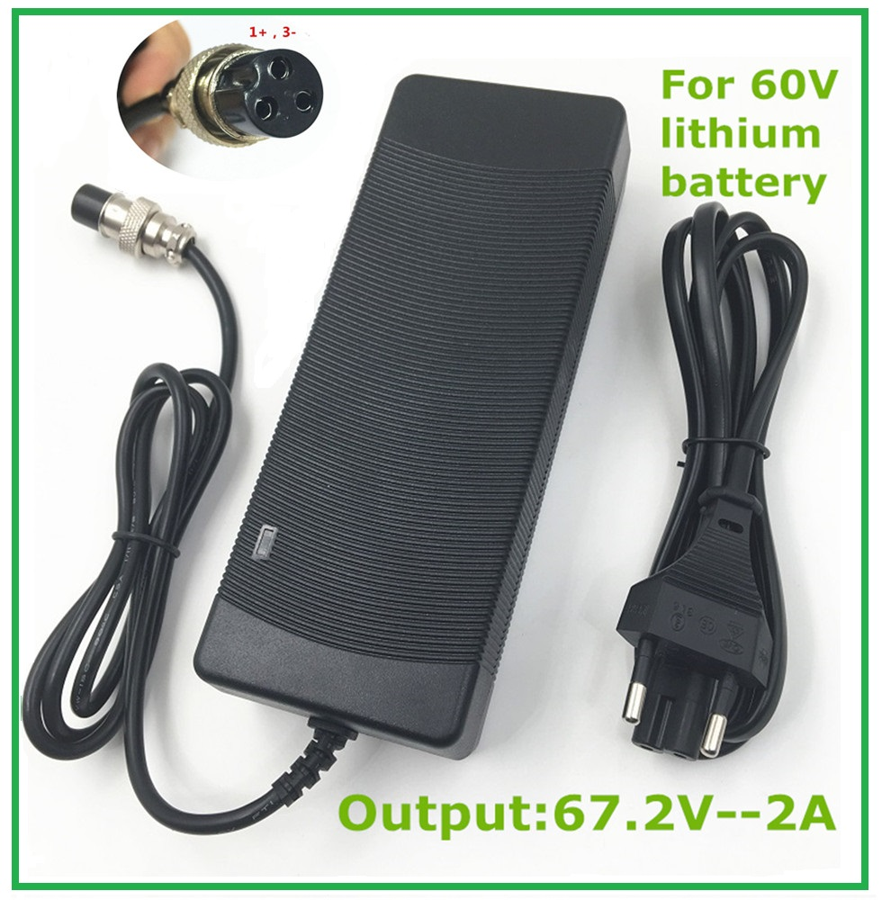 Output 67 2V2A for 60V Harley Citycoco Electric Scooter Charger