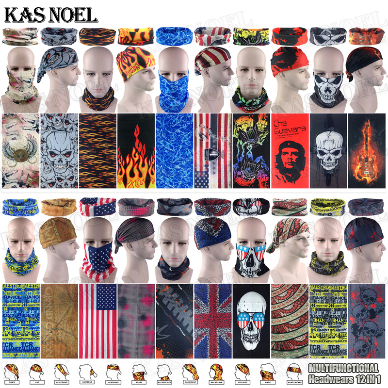 Flames Skull Motorcycle Tube Scarf Headgear Riding Skull Face Shield Magic  Seamless Bandana Outdoors Multifunctional Headwear b3b83a81eb9