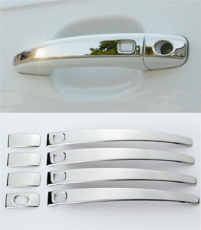 Car exterior door handle panel decorative cover trim stainless steel strip doorknob sequins for for Stainless steel exterior door handles