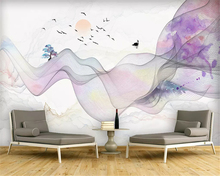 beibehang Modern wallpaper abstract artistic conception ink painting landscape mood decoration wall paper