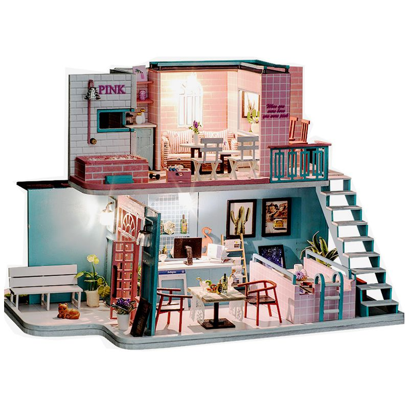 цена на 3D Doll Houses Diy Wooden Toy Furniture Thumbnails Doll House Miniature Dollhouse Toys For Children Grownups Christmas Gift