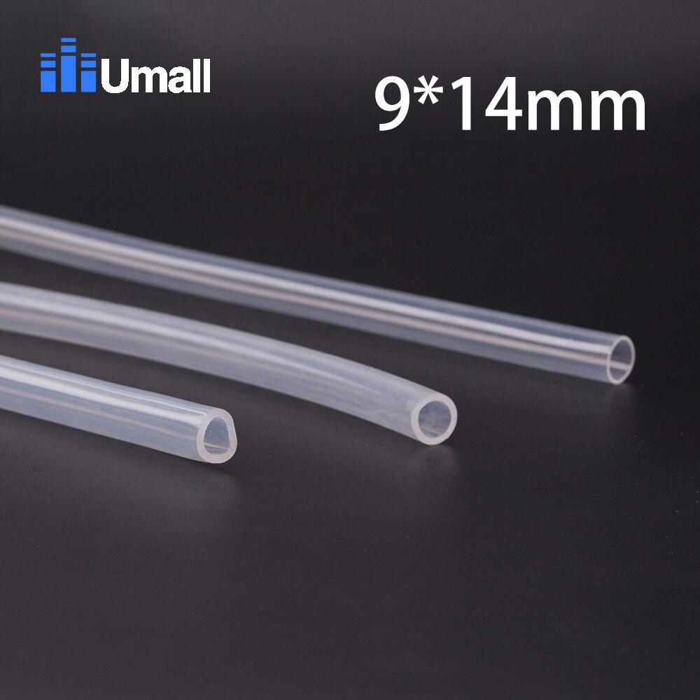 9*14mm Food Grade Medical Use FDA Silicone Rubber Flexible Tube / Hose Pipe