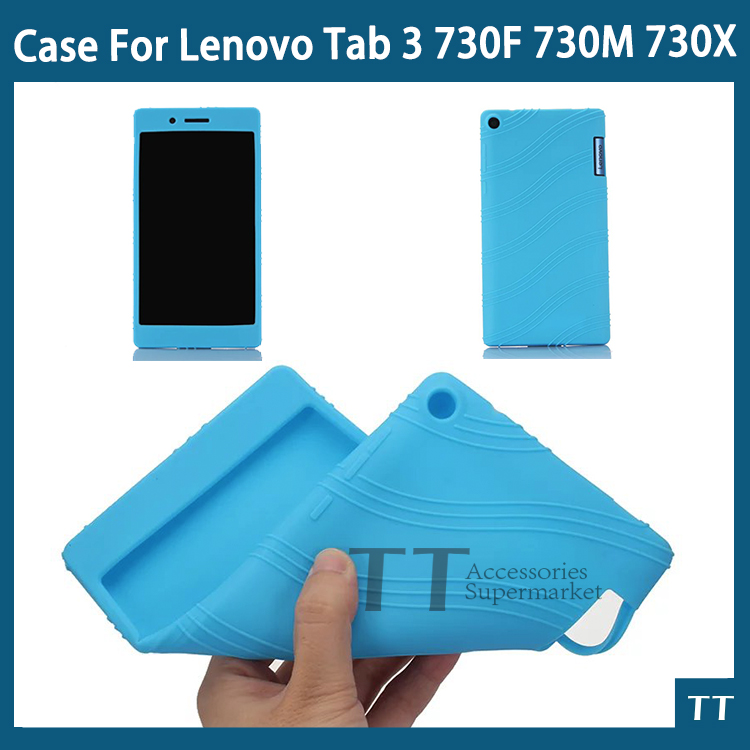 For Lenovo Tab 3 730 case Soft silicone case cover For Lenovo Tab 3 730F 730M 730X 7 inch tablet pc new for lenovo tab 3 730 case slim bracket stand pu leather case for lenovo tab 3 730 730f 730m 730x tablet case not for 710