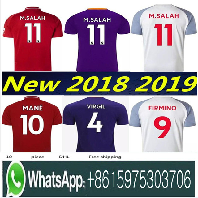 71151a15e08 Top quality 2019 SALAH soccer jersey Home away football shirt mohamed salah  jersey liverpool 18 19 FIRMINO HENDERSON MANE unifo