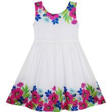 Simple Elegant Cotton Party Dress Size 2-6Yrs
