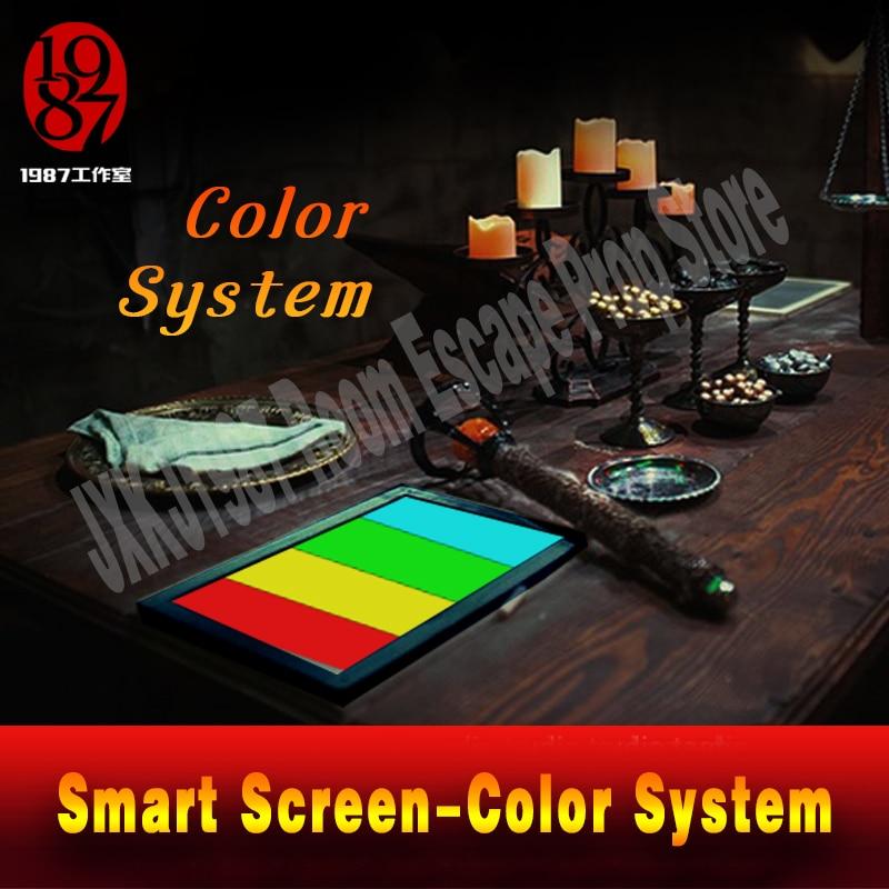 Реалити «Побег из комнаты» Опора цветной пазл приложение умный экран , настройте Цвет pad направо цвет, чтобы разблокировать побег камеры уйти - 4