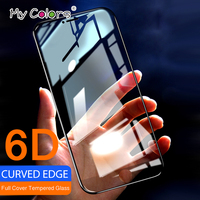 6D Curved Edge Tempered Glass For iPhone 6 glass iPhone 7 glass 8 6s Plus protection Full Cover iPhone X Screen Protector Film