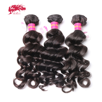 Ali Queen Hair Malaysian Natural Wave Hair Bundles 100% Human Hair Weave 10 to 22 Inches 3 Bundles Deals Virgin Hair Extension