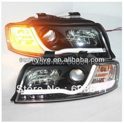 Светодиодный головной свет для Audi А4 В6 светодиодный налобный фонарь 2001 - 2004 года версия v2 Тип