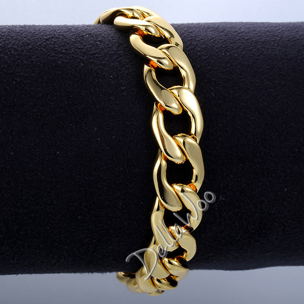 7 11inch Optional 11mm Rose Yellow White Gold Filled Gf Womens Mens Chain Uni Boys