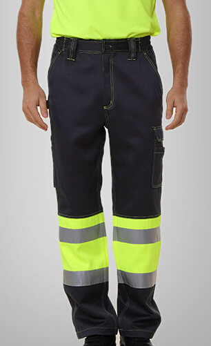 men's reflective pant with side pockets mens cargo pants men's safety working pant Mens High Visibility Trousers orange 1pcs 4