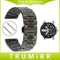 Quick Release Stainless Steel Watch Band +Tool for Diesel Men Women Butterfly Buckle Wrist Strap Link Bracelet Black Grey Silver