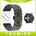 Venda de reloj de acero inoxidable de liberación rápida + herramienta para diesel hombres mujeres butterfly buckle muñequera brazalete de eslabones negro gris plata