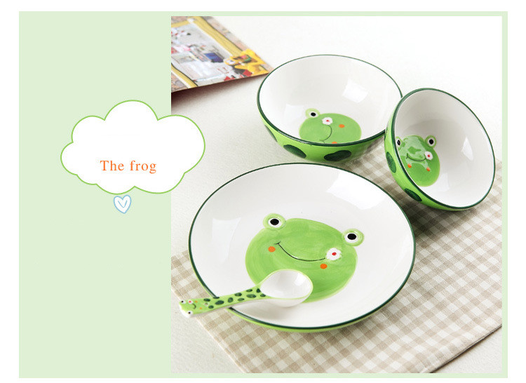 Personalized Frog Plate Frog Plate Customized Plate and Bowl Personalized Plate for Boys Frog Plate and Bowl Set Frog Theme