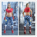 Wonder Woman Yoga Pants Gold Star Fitness Jogging Leggings Sports Tights Red Blue Compression Trousers Elastic Waist Sport Tight