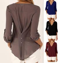 Women T-shirt 2021 new fashion v neck casual summer ladies tops chiffon t shirts women Clothing top