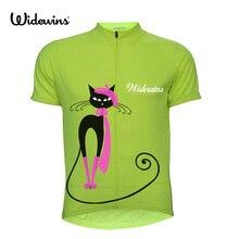 Cat для женщин велосипедная одежда Джерси для езды Велосипедный спорт одежда короткий рукав ropa ciclismo быстросохнущая дышащая велосипедная форма 5135