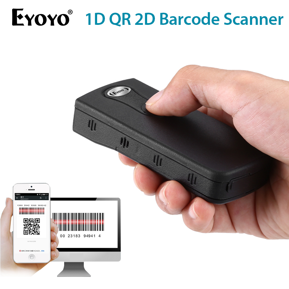 Eyoyo Scanner-Screen Data-Matrix Code-Reader Barcode Windows Bluetooth 2D Portable CCD