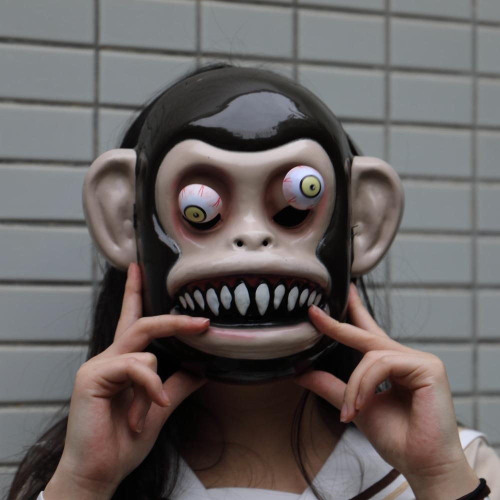 Animal Masks Animal Themed Costumes Monkey Orangutan Mask Cosplay Prop Halloween Accessories Men Women Face Mask Full Head (2)