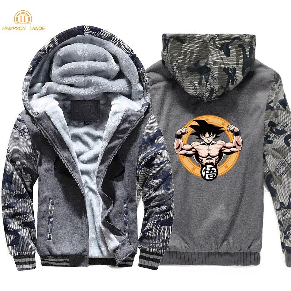 Hommes Sweats Slim Gray Ball dark light Anime Vestes vêtements Dragon Fit Hoodies Sport Gray Casual Blue Dark 2019 Gym Harajuku Z Hiver Camouflage t6wqPWFxgf