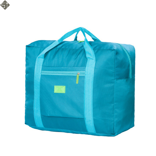 11bfb1030 Hombres bolsa de viaje impermeable para traje Nylon gran capacidad mujeres  bolso plegable bolsas de viaje