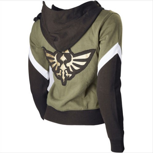 The Legend of Zelda Cosplay Costume Hyrule Link The Legend of Zelda Hoodies Jacket Coat Sweatshirt Suit Hooded Sweater