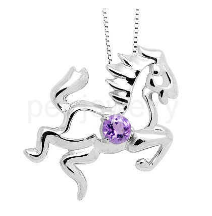 Zodiac horse style pendant natural real amethyst necklace pendant zodiac horse style pendant natural real amethyst necklace pendant 925 sterling silver free shipping 02ct gem 16092421 in pendants from jewelry aloadofball Gallery