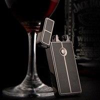 2018 männlich geschenk Feuerzeuge metall Arc USB Aufladbare Flammenlose Lichtbogenwindproof Cigar Zigarettenanzünder-in Netzteil aus Kraftfahrzeuge und Motorräder bei